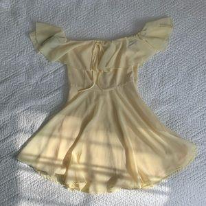 Baby Yellow Chiffon Dress